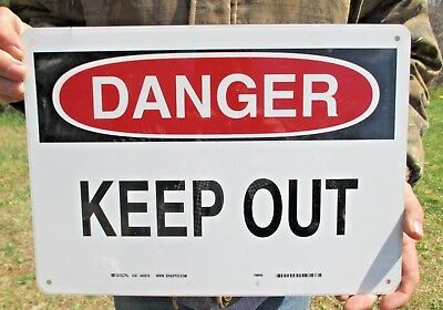 "BRADY DANGER Sign #40676 KEEP OUT 10"" x 14"" OSHA Compliant Free Shipping U.S."