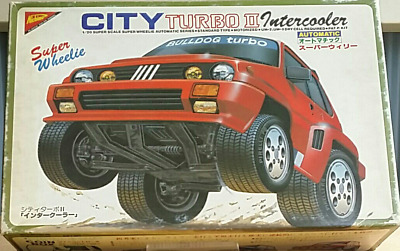 Rare 1/20 Nichimo CITY Turbo II Intercooler Autmatic Model kit Super Wheelie