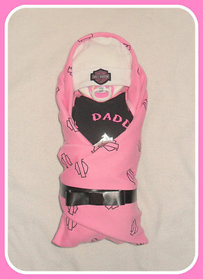 Harley Diaper Baby Cake- My Daddy Rides A Harley-Fun Baby Shower Gift