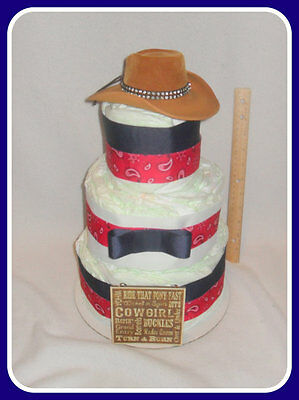 Incredible Cowgirl or Cowboy Diaper Cake