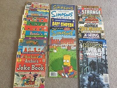 Comic Books: Archie, Simpsons, Star Wars, Doctor Strange, Doctor Who