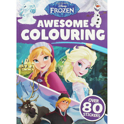 Disney Frozen Awesome Colouring (Paperback), Children's Books, Brand New