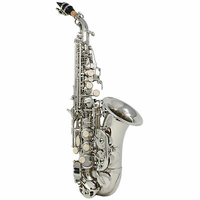 Hawk Curved Soprano Saxophone Nickel With Case, Mouthpiece and Reed