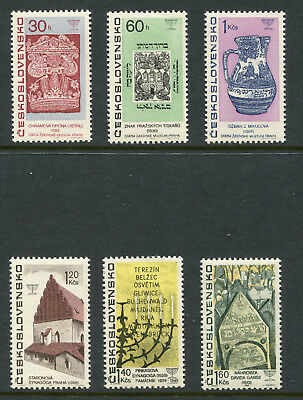 1967 Czechoslovakia.  Jewish Culture.  Full set of 6 MLH.  SG 1660/1665.
