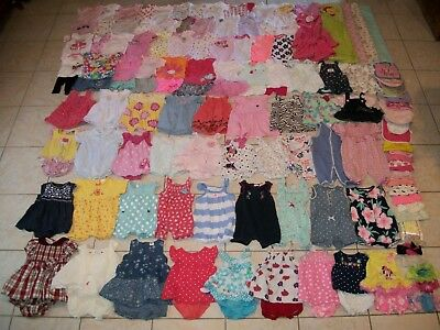 Baby Girls Clothes/Outfits Lot of 136 Size Newborn/0-3 Months Summer