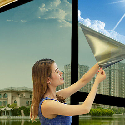 Glass Film One Way Mirror Window Privacy Reflective Film Silver Tint