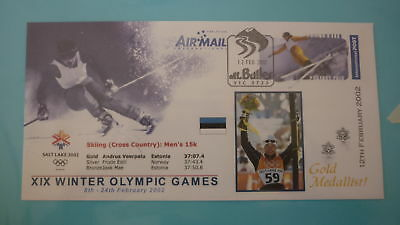 2002 Winter Olympic Games Gold Medal Win Cover, Andrus Veerpalu Estonia Skiing