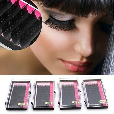 3D Volume Individual Blink Tray Lash 0.1mm B C D J Curl False Eyelash Extension