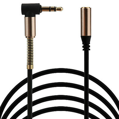 3.5mm Jack Elbow Male To Male Stereo Headphone Car Aux Audio Extension Cable