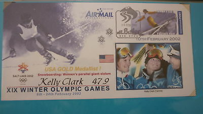 2002 Winter Olympic Games Medal Win Cover, Usa Kelly Clark Womens Snowboard