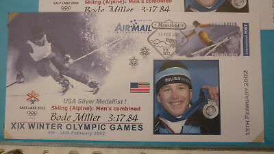 2002 Winter Olympic Games Medal Win Cover, Usa Bode Miller Alpine Skiiing