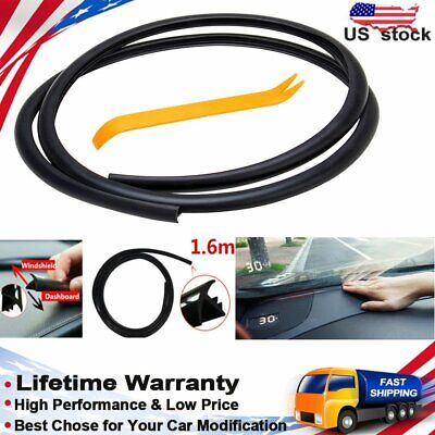 18mm 1.6m Long Rubber Soundproof Dustproof Sealing Strip for Auto Car Dashboard