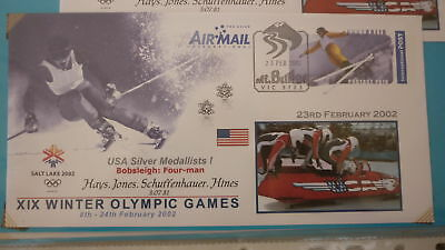 2002 Winter Olympic Games Medal Win Cover, Usa Mens Bobsleigh Team 1