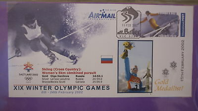 2002 Winter Olympic Games Gold Medal Win Cover, Olga Danilova Russia Skiing