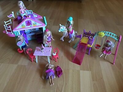 Barbie Set Haus Schaukle Pferd Chelsea