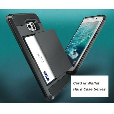 Hybrid Shockproof Protective Card Holder Case Cover For Samsung Galaxy A5 A7 A8