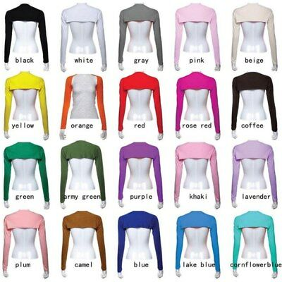 AU Ramadan Women One Piece Sleeves Arm Cover Shrug Bolero Hijab Muslim 20 Colors