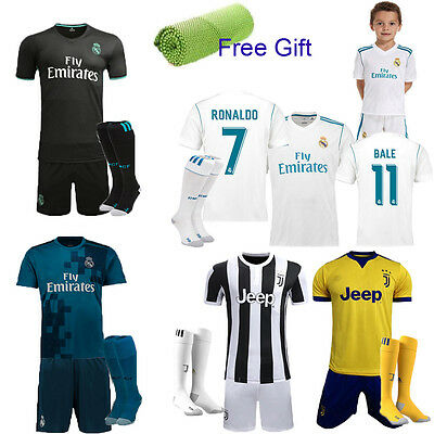 17/18 Football Kits Jersey Soccer Short Sleeve Sportswear Team Suits Shirt+Socks