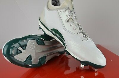 80cfe2406abc Adidas Energy Boost Icon 2.0 2 Metal Baseball Cleats White Green Size 12  Q16533