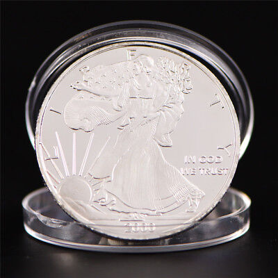 Silver Plated Bitcoin Coin Round Commemorative Coin Art Collection Gift JL