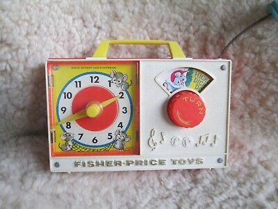 Fisher Price Vintage Toy Clock Radio #107