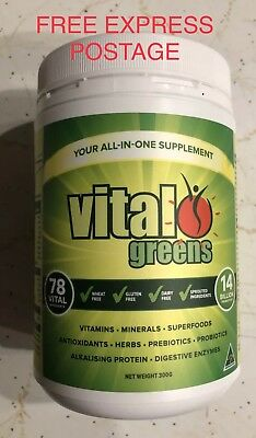 VITAL GREENS 300g - VITAL-ALL-IN-ONE SUPERFOOD NUTRIENT SUPPLEMENT FREE POST