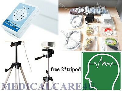 CONTEC KT88-1016 EEG machine,Digital EEG Mapping Systems+tripods 16 Channel, +CD