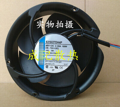 for 1PCS Ebmpapst four line 17251 fan 6318/2TDH4P DC48V 150W