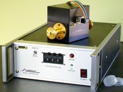 HUGHES MICROWAVE MILLITECH 33-50 ghz MWA-22 WR22 rotary vane attenuator control