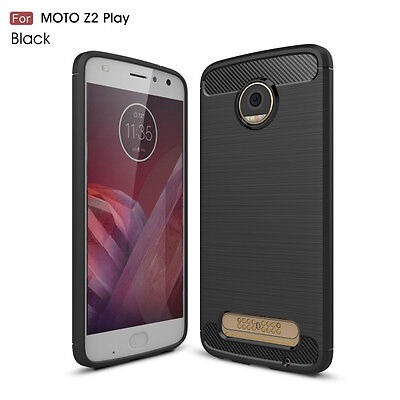 CA Test Carbon Fiber Texture TPU Cover Case For Motorola Moto Z2 Play XT1710