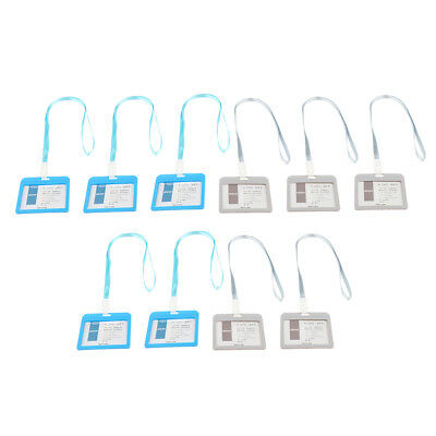 Badge Holders Open Double Sided Pick Card ID Card Pouches -Gray&Light Blue