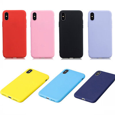 For iPhone X 8 7 Plus 6 Plus Case Cute Ultra Thin Slim Silicone Gel Rubber Cover