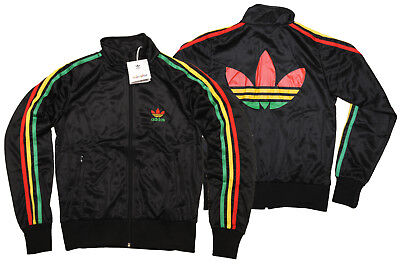 ADIDAS RASTA 3 STRIPES FIREBIRD originals WOMEN'S TT BLACK TRACK TOP 38