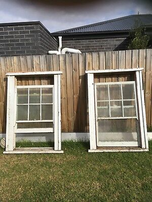2 Timber Double Hung Country Colonial Style Sash Windows 1100w x 1640h x 160d