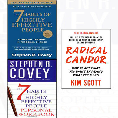 Radical Candor 3 Books Collection Set 7 Habits of Highly Effective People Person
