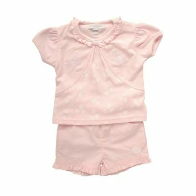 Kris X Kids | Baby Top and Shorts Outfit | Girls | Seashell Design | 0-24 Months