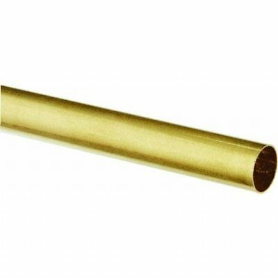 """K&S Metal Round Tube 9/16"""" D X 12"""" L Brass Carded"""