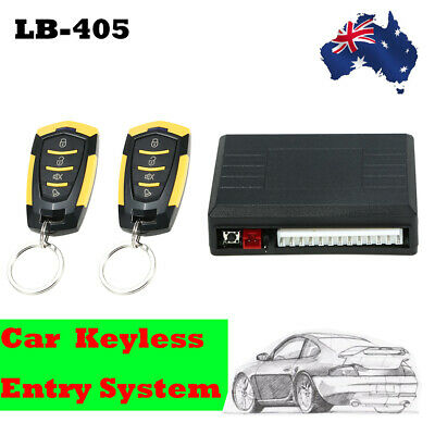Car Central 2 Remote Control Door Lock Locking Security System Keyless Entry Kit