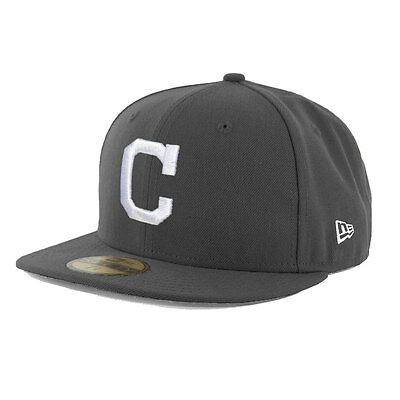 Cleveland Indians Officially Licenced Graphite MLB New Era 59FIFTY Fitted Cap