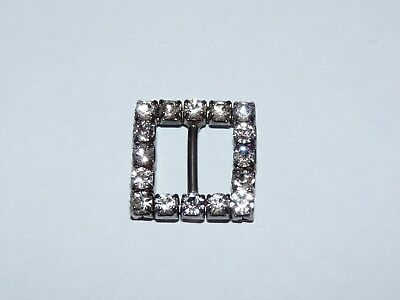 Crystal And Metal Vintage Small Square Women's Belt Buckle *rare*