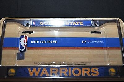 Rico Golden State Warriors Chrome Metal License Plate Frame