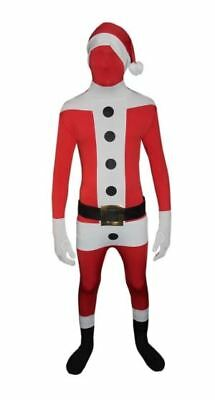 Adults Christmas Santa Claus Stretchy Skin Suit Mens Fancy Dress Party Costume