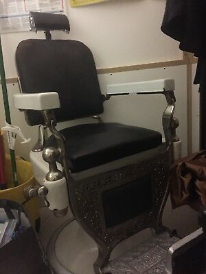 Antique Theo-A-Kochs Chicago Barber Chair 1910