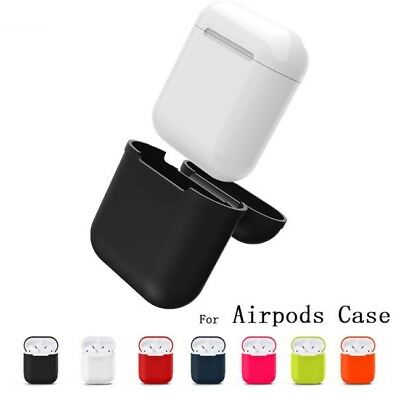 Funda para Apple AirPods de Silicona Gel Carcasa Auriculares iPhone Cascos