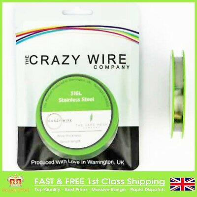40 AWG (0.08mm) SS316L Marine Grade Wire 250ft Spool by The Crazy Wire Company