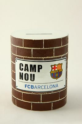 FC Barcelona Official Novelty Gift Brick Money Box Football Club Crest Team