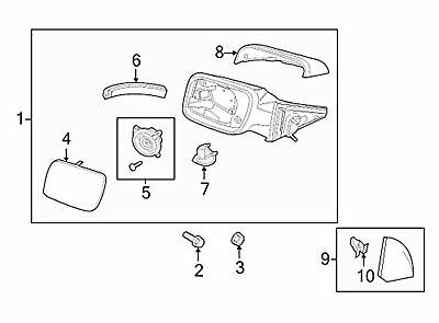 NEW OEM RH EXTERIOR SIDE VIEW MIRROR TURN SIGNAL LAMP 2011-2013 FORD EXPLORER