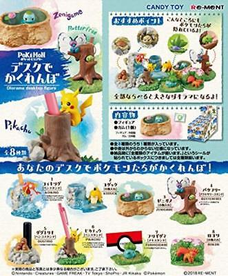 Pokemon Desktop Accessory Figure All 8 pieces Re-Ment from Japan*