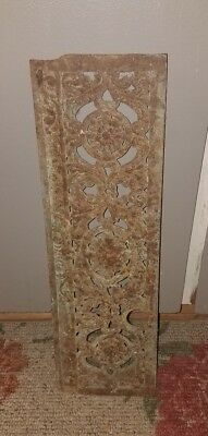 Antique Victorian RUSTIC/PRIMITIVE Cast Iron Heating Grate~Floral, Acanthus Leaf