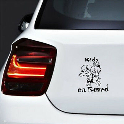 Decor Graphics Decal Cartoon Car Window Decoration Kids On Board Sticker FO